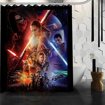 Custom star wars Shower Curtain Bathroom Products Creative Polyester Home Shower Curtain/Bathroom Product
