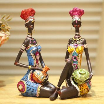 Home Furnishing Ornaments Decorations Characters Living Room Figurine Furnishings Desktop Crafts Sculpture African Home Decor