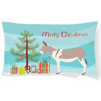 Australian Teamster Donkey Christmas Canvas Fabric Decorative Pillow BB9213PW1216
