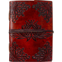 Lotus Flower Leather Journal