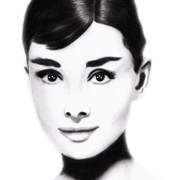 Audrey Hepburn Pencil drawing size A4