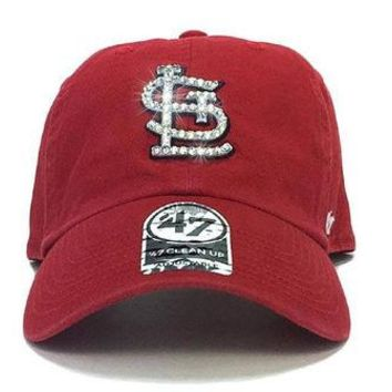 DCCKH9D St. Louis Cardinals '47 Brand Adjustable Cap + Custom Swarovski Crystals