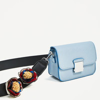 CROSSBODY BAG WITH FLORAL STRAP DETAILS
