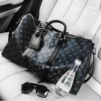 LV Luggage Bag Travel Bag Fashion Big Bag Leather large capacity Tote Handbag B-LLBPFSH Black