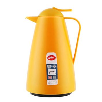 Yellow Color Glass Thermo Flask Hot Water Vacuum Insulated Pot Glass Liner Coffee Tea Thermos 1000ML