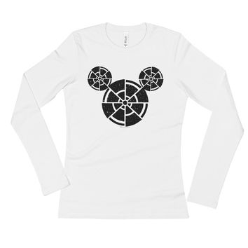 Wish Upon A Death Star Disney Star Wars Mashup Parody Ladies' Long Sleeve T-Shirt