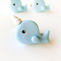 Baby Blue Narwhal Ring