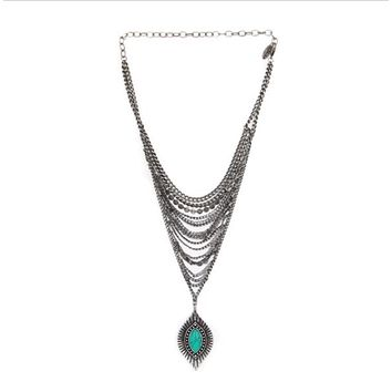 Cool Coverage Boho Necklace in Turquoise