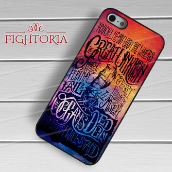 Hillsong United galaxy ocean quotes -wndh for iPhone 6S case, iPhone 5s case, iPhone 6 case, iPhone 4S, Samsung S6 Edge