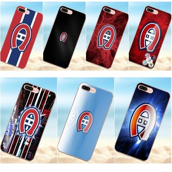 Qdowpz For LG G2 G3 mini spirit G4 G5 G6 K4 K7 K8 K10 2017 V10 V20 V30 Cute Phone Cases Montreal Canadiens Logo Nhl S Duos
