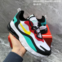 HCXX N1427 Nike React Air Max Cushion Stitching Fashion Casual Running Shoes white blue Green