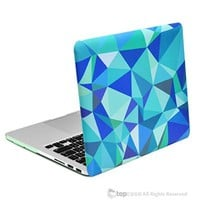 """TopCase Retina 13-Inch Hot Blue Greek Key Rubberized Hard Case for MacBook Pro 13"""" with Retina Display Model A1425 / A1502"""