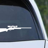 Hunting Rifle With Scope HNT1-18 Die Cut Vinyl Decal Sticker