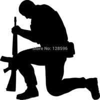 Army Guy Praying car window sticker vinyl decal funny JDM For Laptop