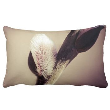 Willow buds - Thrust Of New Life Lumbar Pillow