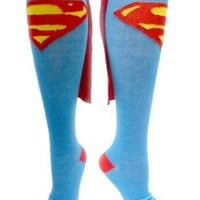 Superman Juniors Blue Cape Socks