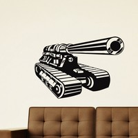 Wall Decal Vinyl Sticker Tank Weaponry Military Decor Sb445
