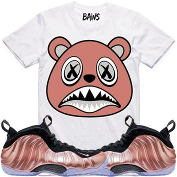 ROSE GOLD BAWS Sneaker Tees Shirt - Elemental Foamposite
