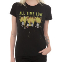 All Time Low Yellow Lights Girls T-Shirt