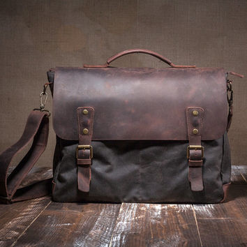 Satchel - Leather Satchel - mens satchel - canvas satchel - messenger bag - mens messenger bag - men messenger
