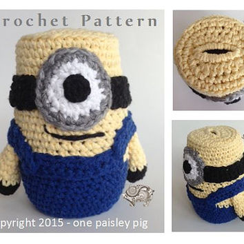 Piggy Bank / Coin Bank - Minion Inspired - PDF CROCHET PATTERN