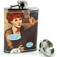 """Trendy Vintage """"everyone needs a hobby, dear... mine is drinking"""" Anne Taintor Hip Party Flask"""