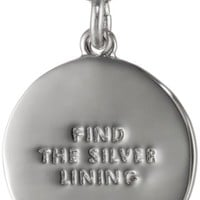 "kate spade new york ""Kate Spade Pendants"" Silver Colored Find the Silver Lining Pendant Necklace, 18"""