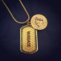 Boys & Men Versace Hip-Hop Accessory Pendant Necklace