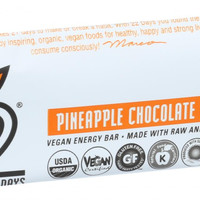 22 Days Nutrition Organic Energy Bar - Pineapple Chocolate Chip Wonder - Case of 12 - 1.7 oz Bars