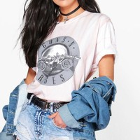 Charlie Guns n Roses Oversized Washed Band Tee | Boohoo