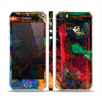The Abstract Colorful Painted Surface Skin Set for the Apple iPhone 5s