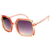 Womens Fashion Vintage Square Oversized Sunglasses O22