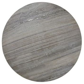 Round Gray Marble Table Top