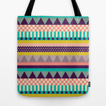 Decorative Stripes Tote Bag by Louise Machado