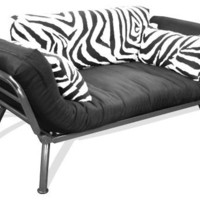 Elite Products Mali Flex Zebra Sofa/Cushion Combo Futon