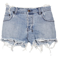 Ksubi | Mid-rise raw-edged rigid-denim shorts | NET-A-PORTER.COM