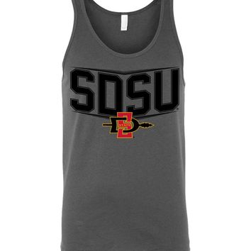 Official NCAA San Diego State University Aztecs SDSU Aztec Warrior Unisex Tank-sdsu1040