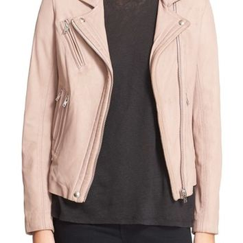 IRO 'Han' Lambskin Leather Moto Jacket | Nordstrom