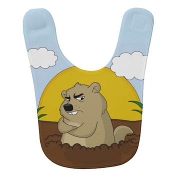 Groundhog day bib