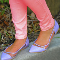 Clear To Me Flats: Pastel Purple | Hope's