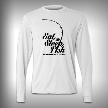 Eat Sleep Fish - Performance Shirt - Fishing Shirt - Decal Shirts