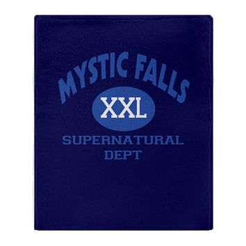 Mystic Falls Supernatural Dept Throw Blanket