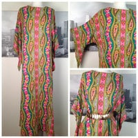 Vintage 1960s Hippie Maxi Dress by Gaymode by SelvedgeDrygoods