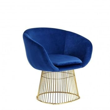 Dylan Navy Velvet Accent Chair