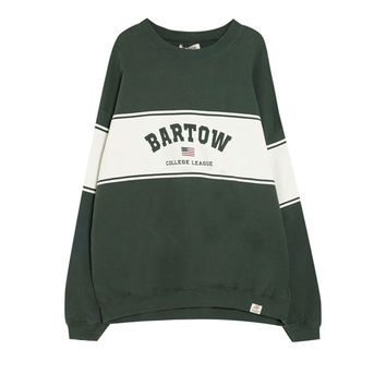 Bartow sweatshirt - Prints - Sweatshirts & Hoodies - Clothing - Woman - PULL&BEAR Malaysia