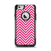 The White & Pink Sharp Chevron Pattern Apple iPhone 6 Otterbox Commuter Case Skin Set