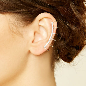 Rhinestone Ladder-Cut Ear Cuff