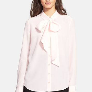 Women's kate spade new york bow detail silk blouse,