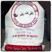 Personalized Santa Delivery Sack from Sassy by Sacha