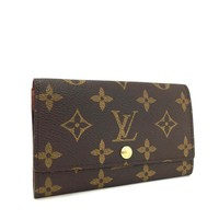 100% Authentic Louis Vuitton Monogram Porte monnaie Zip Bifold Wallet /q38